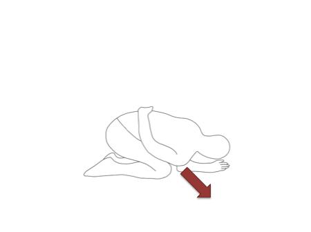 右肩が左の脇腹に近づくように曲げていきます