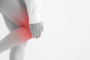 膝の外側が痛い女性