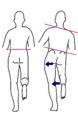 片脚立ち時の骨盤傾斜