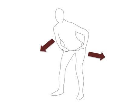 股関節を軸に、お尻を後ろに引いて体幹は前傾します