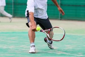 テニスのバックハンドショット
