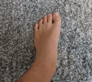 足裏を地面につける