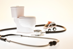 トイレと救急車のおもちゃ