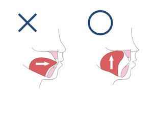 舌の位置のイラスト
