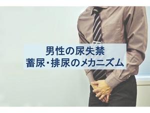 男性の尿失禁のメカニズムのトップ画像
