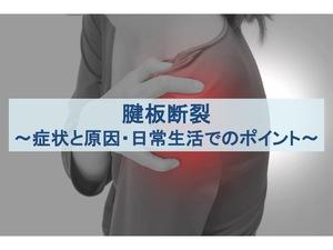 腱板断裂の症状と原因・日常生活でのポイントのトップ画像
