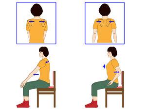肩甲骨を寄せる動き